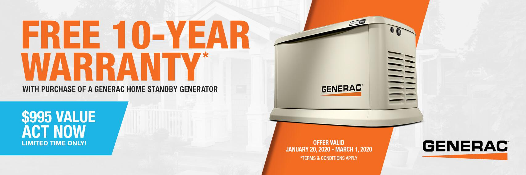 Homestandby Generator Deal | Warranty Offer | Generac Dealer | Thomasville, GA